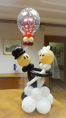 Hochzeitsdeko Ballons - Tanzendes Brautpaar