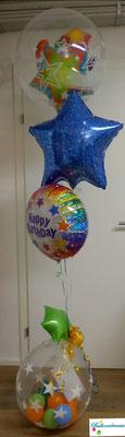 """Ballonbouquet Happy Birthday """"Stars"""" mit Stuffed Balloon"""