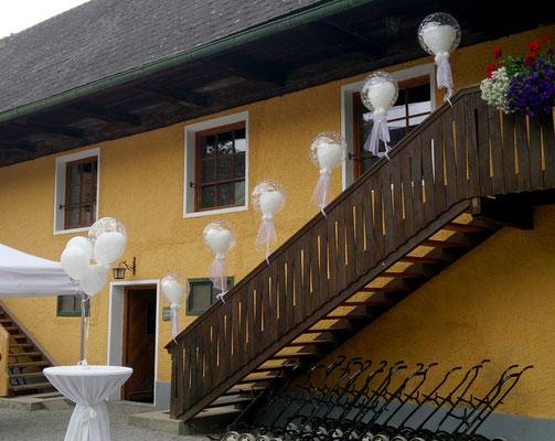 Hochzeitsdekoration im Golfhotel Murhof in Frohnleiten Hochzeitsdeko Ballons