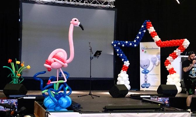 Bühnendekoration bei der Tatoo-Convention Graz-Schwarzl