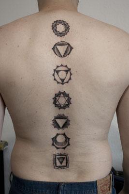 dotwork spiritual tattoo
