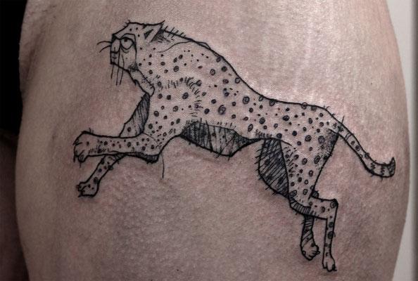 gepard arty tattoo