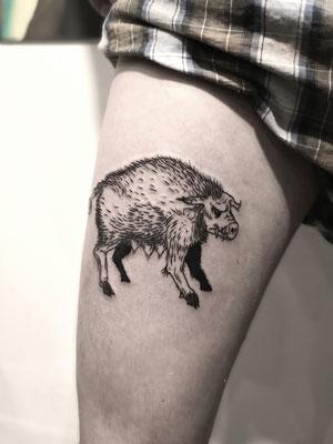 medieval blackwork dark tattoo