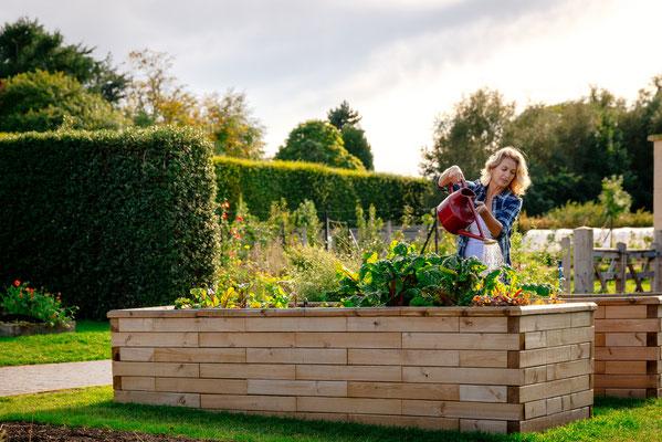 ©WoodBlocx, jardinière surévelevée pour un carré potager