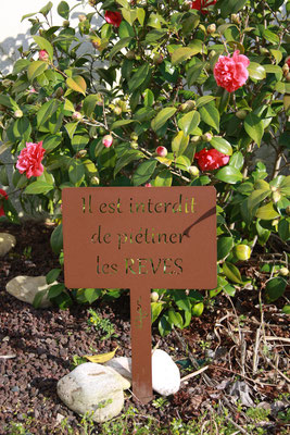 ©IDfer, Etiquette de jardin décorative Happiness