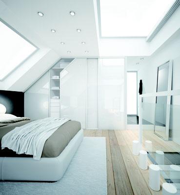 ©Coulidoor, chambre sous pente blanc
