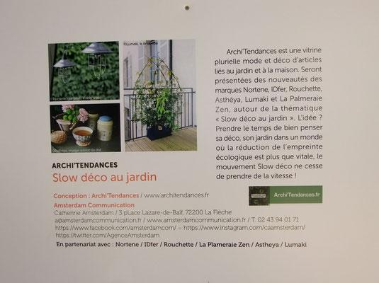 Concept du stand Archi'Tendances au salon Jardins Jardin ©Archi'Tendances