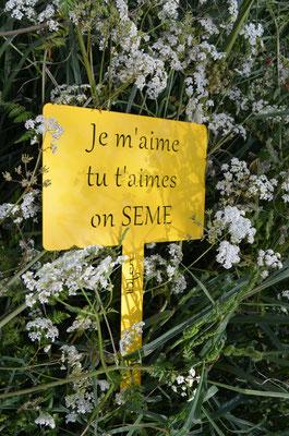 """©IDfer, étiquette de jardin décorative HAPPINESS """"SEMES"""" jaune"""