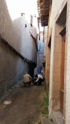 Visite de chantier contre les termites à Monestiés pour Sentritech
