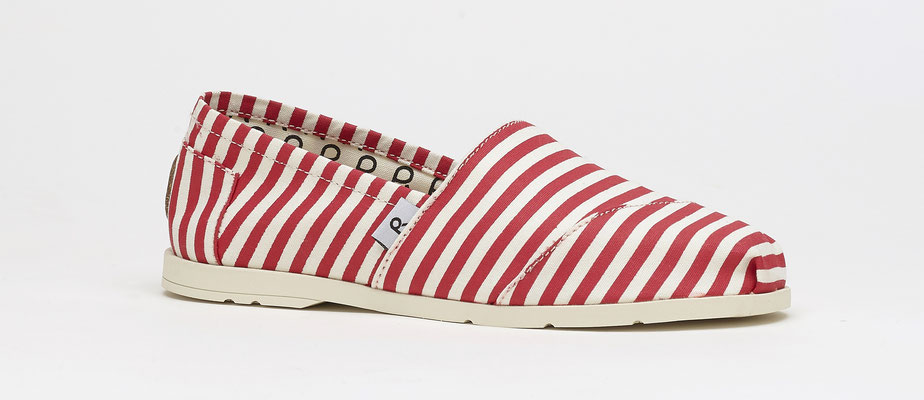 ©Rouchette, chaussure ENJOY SEA Rayé Rouge & Blanc