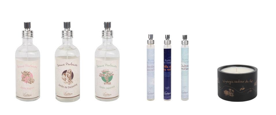 ©Asthéya, gamme ambiance parfumées : brumes parfumées, brumes de songe et bougies