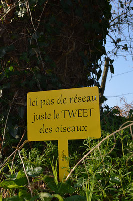 ©IDFER, étiquette de jardin Happiness TWEET jaune