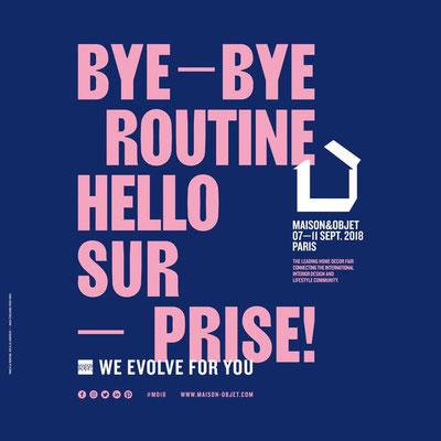 Maison & Objet - du 6 au 15 septembre 2018 - Paris Parc Expo Villepinte