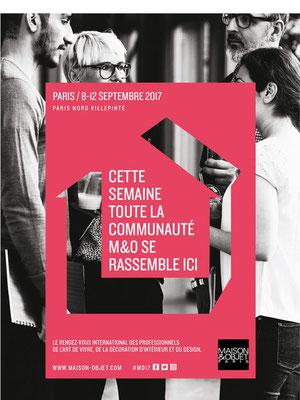 Salon Maison & Objet - Paris Villepinte - Septembre 2017