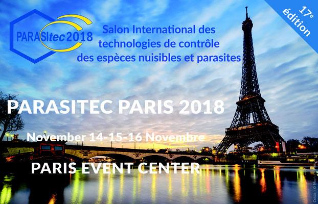 Salon Parasitec - du 14 au 16 novembre 2018 - Paris Event Center