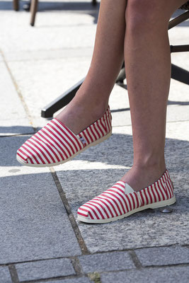 ©Rouchette-Enjoy-SEA-rayé-rouge-blanc-chaussure-toile-canvas