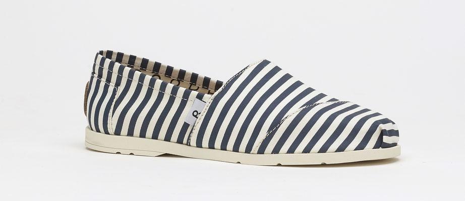 ©Rouchette, chaussure ENJOY SEA Rayé Marine & Blanc