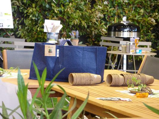 Foire de Paris 2018, Lumaki, le kit DIY végétal, sacs de plantation pour plantes grimpantes