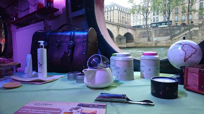 Atelier presse Asthéya sur la Péniche Le Marcounet (Paris IV)