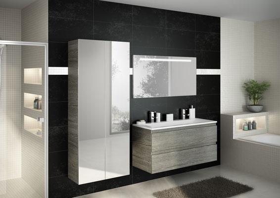 ©DISCAC, salle de bain 2017,  collection RIVAGE - Sciée Gris