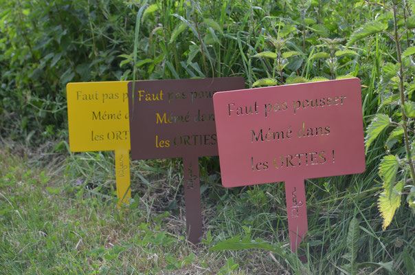 """©IDfer, étiquettes de jardin décorative HAPPINESS """"ORTIES"""""""