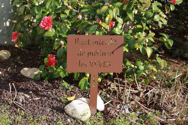 """©IDfer, étiquette de jardin décorative HAPPINESS """"REVES"""" rouille"""