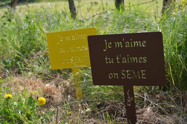"""©IDfer, étiquettes de jardin décorative HAPPINESS """"SEMES"""""""