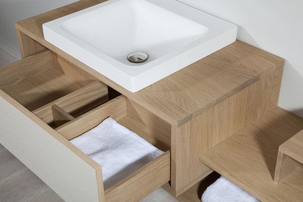 ©O'Design, meuble Scala, vasque blanche, groupe Ottofond