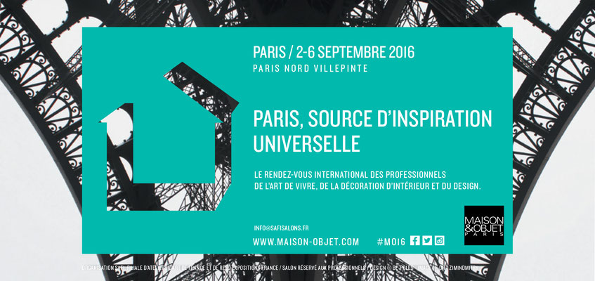 Salon Maison & Objet, septembre 2016 - Paris