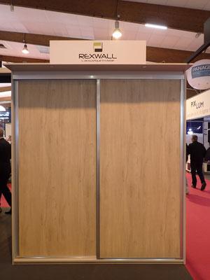 ©Coulidoor, stand Artibat, panneaux acoustique en partenariat avec Rexwall