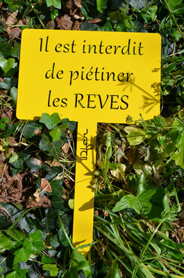 ©IDfer, Etiquette de jardin décorative Happiness REVES_jaune