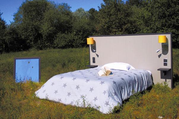 OHMYBED_Tête de lit décor greige brillant sans séparateur