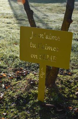 ©IDFER, étiquette de jardin Happiness SEME jaune