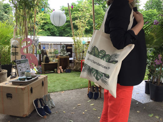 Sac kit Presse Archi'Tendances au salon Jardins Jardin ©Archi'Tendances