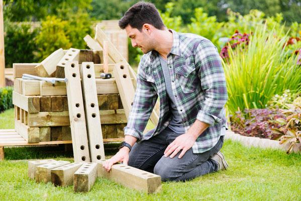 ©WoodBlocx, kit de jardinière surélevée à monter soi-même