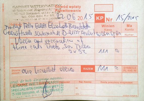2 - 111 Zl. - 22.06.2015 - 3 Impfungen - Gretel, Soran, Tascha