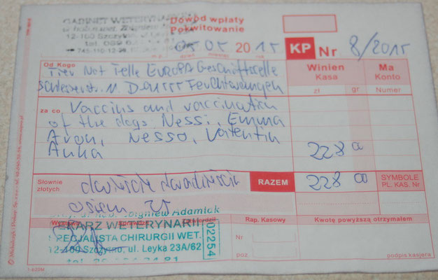 2 - 228 Zl. - Impfung  2015 TH - Emma, Aron, Nesso, Valentin, Anka, Nessi