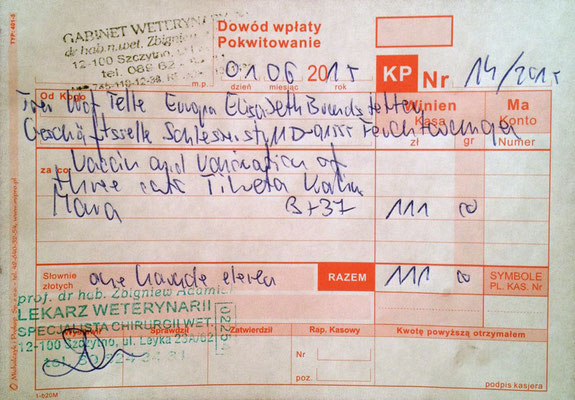 1 - 111 Zl. - 01.06.2025 - 3 Impfungen - Mara, Tineta, Kalina