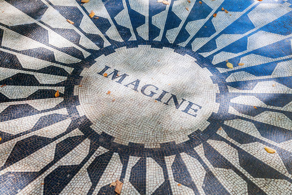 John Lennon Memorial im Central Park, New York City