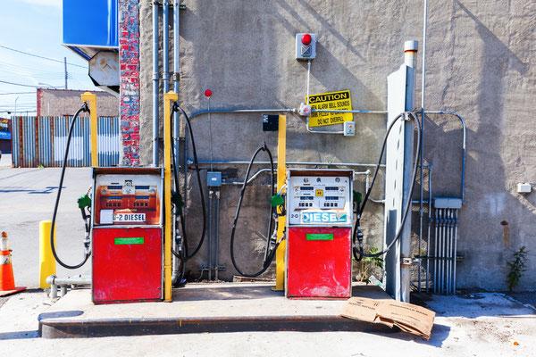 verlassene Tankstelle in der Bronx
