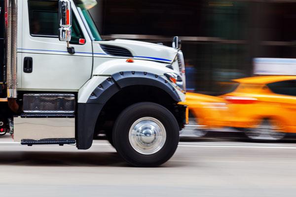 Truck auf New Yorks Straßen