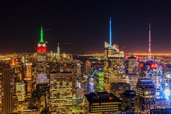 Manhattan, New York City bei Nacht