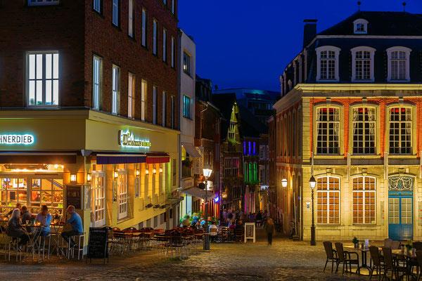 Aachener Altstadt bei Nacht