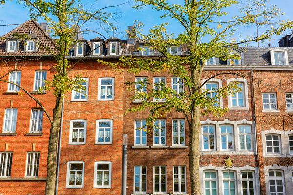 Häuserfront am Katschhof in Aachen