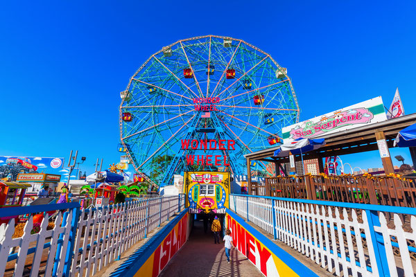 im Luna Park auf Coney Island, NYC