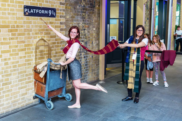 London, King's Cross Station, Harry Potter Gleis 9 3/4
