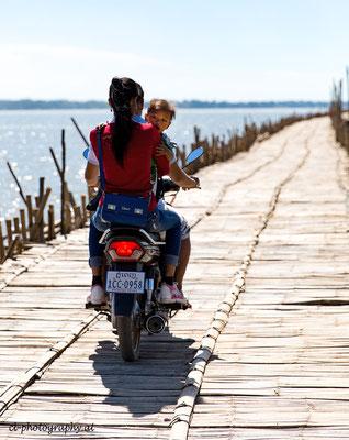 Bambusbrücke Kambodscha