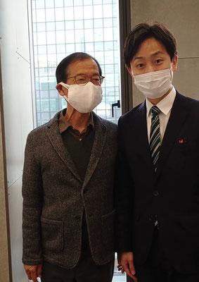 新区長に千代田区の基金を有効活用していただけるようにお願いしました。