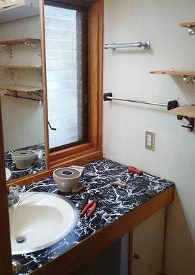 【Before】洗面台模様替え