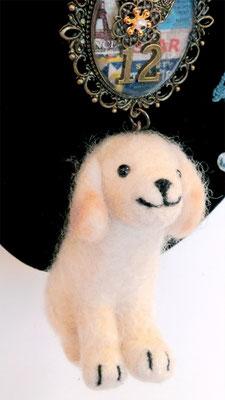 羊毛フェルト犬1